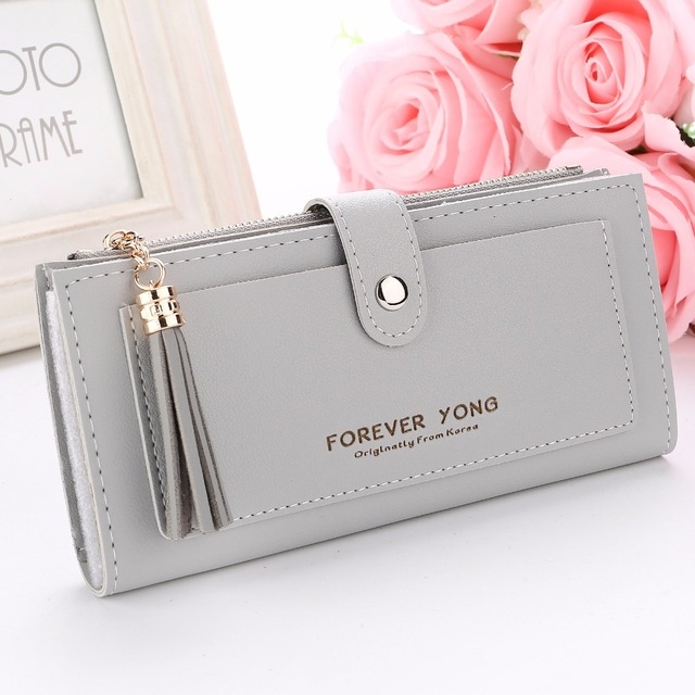 Fashion Forever Young tassel Long Wallet Women Portable Cash Purses Clutch  girl lady Women s Money Coin Card Holders Female bag 5c8a42cdac