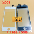 2pcs Touch Screen For iPhone 5 Phone Touch Glass Lens For iPhone 5 Touchscreen Digitizer NO FULL LCD DISPLAY For iPhone + Tools