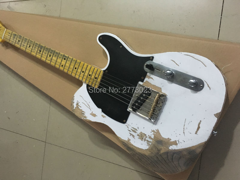 high quality new electric guitar style handmade relic tl do old version ems delivery can produce. Black Bedroom Furniture Sets. Home Design Ideas