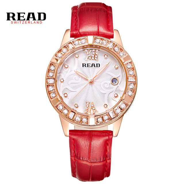 READLuxury Watches Women Wristwatches Ladies' Leather Quartz Watch Montre Femme Relojes Mujer Relogio Feminino 2050 watch women watches ladies watch relogio feminino elegant pu leather analog quartz dress clock relojes mujer