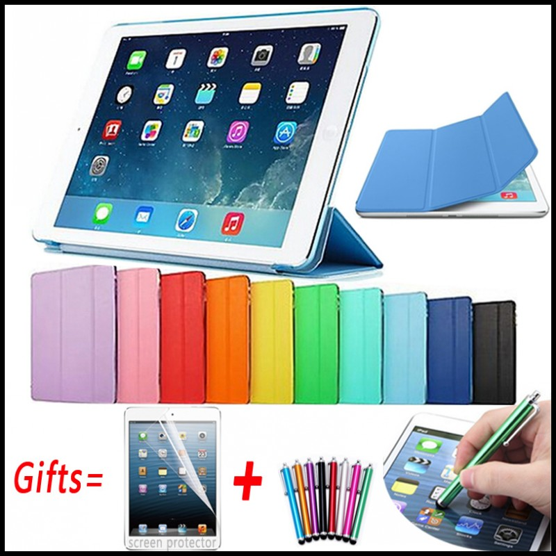 Ultra Slim Magnetic Cover for iPad 2 Case Connected Smart Cover for iPad 4 Case Matte Hard Back Leather Case for iPad 3 9.7 case for ipad 2 3 4 ultra slim back cover protective smart cover case for ipad 2 3 4 with free gift protector film free shipping