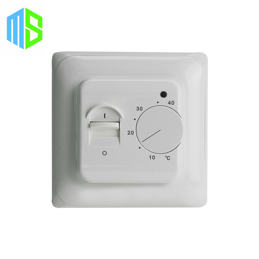 220V 16A Electric Floor Heating Room Thermostat Manual Warm Floor Heater Cable Temperature Controller Thermocouple dial thermostat temperature control switch for electric oven ac 220v 16a 50 300c degree y05 c05