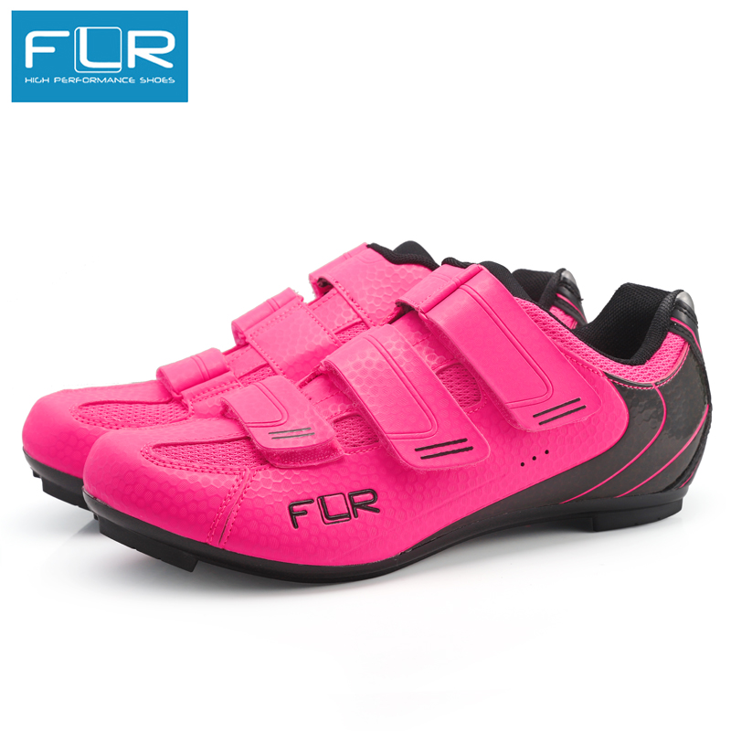 FLR cycling shoes road bike shoes men racing sneakers adult professional athletic breathable comfortable F35 pink