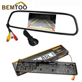 "BEMTOO 4.3""LCD Car Rearview Mirror Monitor For Rear View Camera European License Plate Night Vision Backup ,Free Shipping"