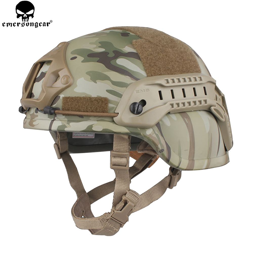 цена на EMERSON Helmet ACH MICH 2000 Helmet-Special Action Version Airsoft Wargame Hunting Tactical Helemt with Protective Pads EM8978