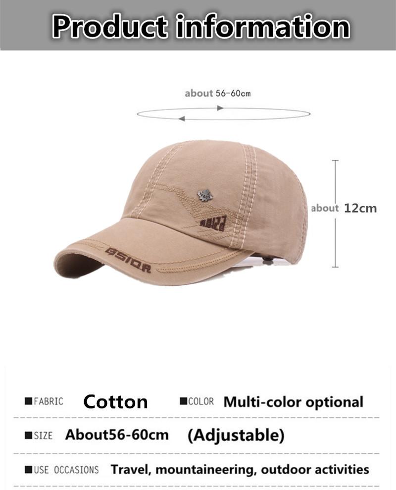 Sombrero de los hombres gorra de béisbol de algodón de moda viajes ... acd8c800729