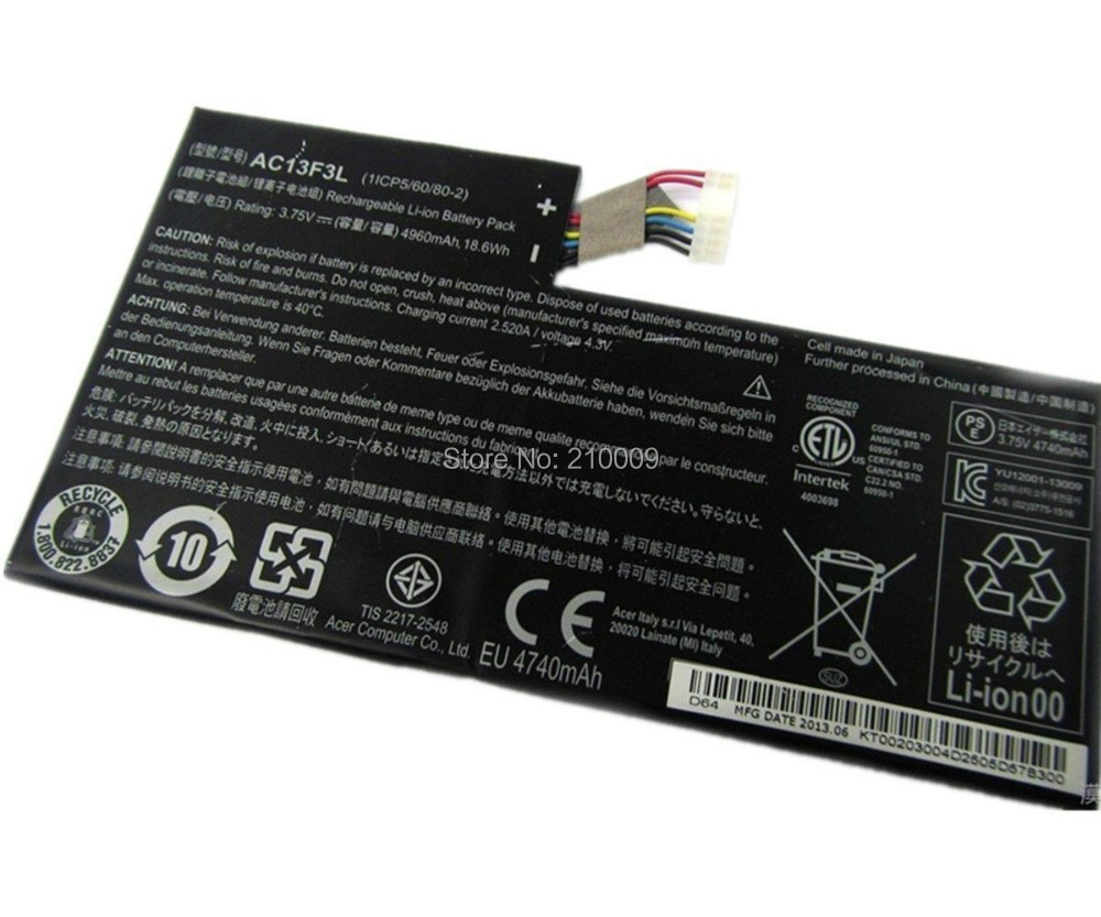 Original Laptop Battery for Tab A1-a810 Ac13f3l Battery Free Shipping 3.75v 4960mah/18.6wh free shipping 5pcs lot kb930qf a1 930qf a1 qfp offen use laptop p 100% new original page 4