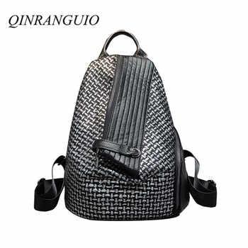 QINRANGUIO Women Backpack Genuine Leather Backpack Women 2019 New Design School Backpacks for Teenage Girls Mochila Feminina - DISCOUNT ITEM  30% OFF Luggage & Bags