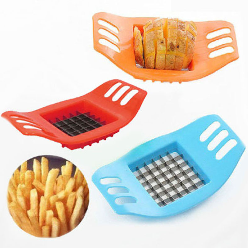 ABS+Stainless Steel Potato Cutter Vegetable Slicer Chopper Chips Making Device for Fries Kitchen Cooking Tools