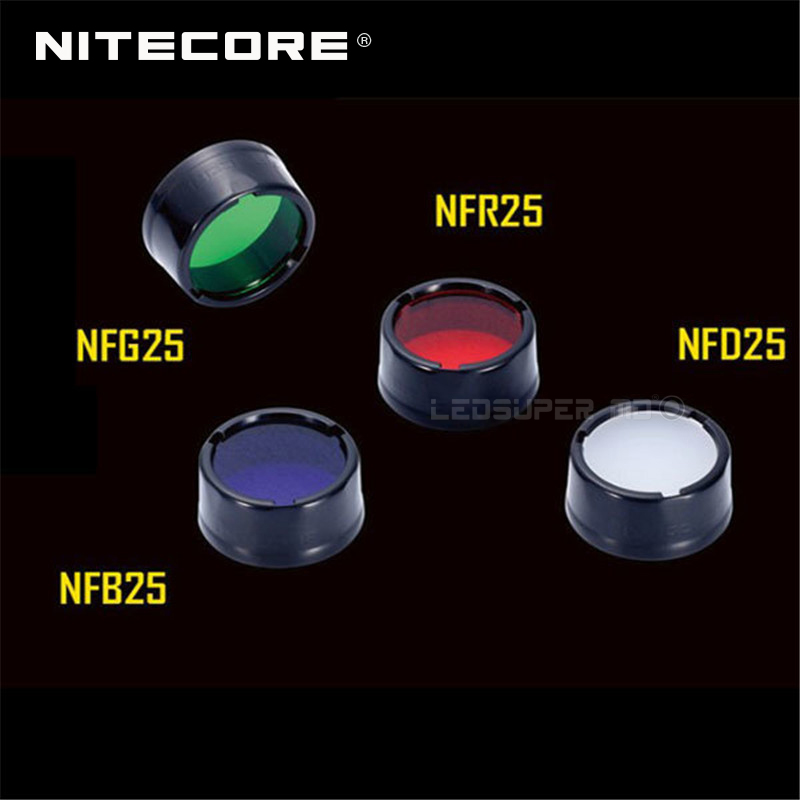 Nitecore NFR25 NFB25 NFG25 NFD25 Multicolour Flashlight Filter 25.4MM Suitable for Torch with Head of 25.4MM