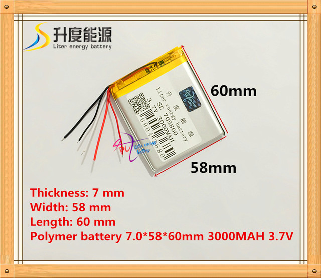 A lithium ion battery wiring wiring library 5 wire the tablet battery 3 7v 3000mah 705860 polymer lithium ion rh aliexpress com lithium ion battery diagram lithium ion battery warning label greentooth Images