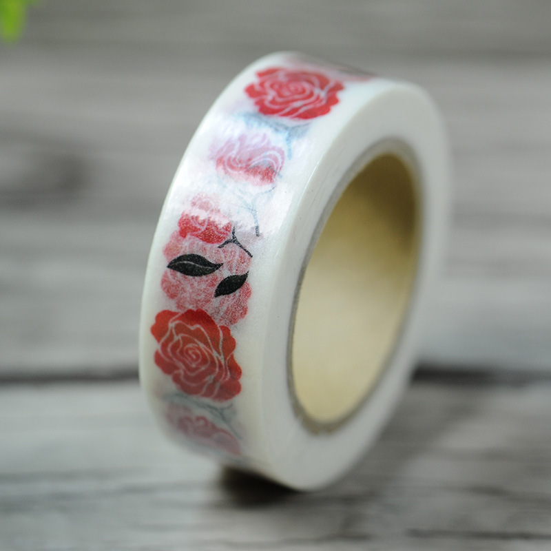 Free Shipping Valentine's Day Washi Paper Masking Tape/ROSE Picture