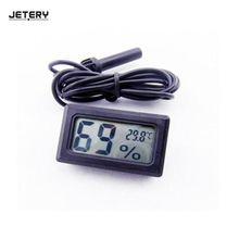 Jetery белый ЖК-дисплей цифровой встроенный термометр гигрометр исследующее устройство для Аквариум инкубатор Reptile цифровое измерение дома
