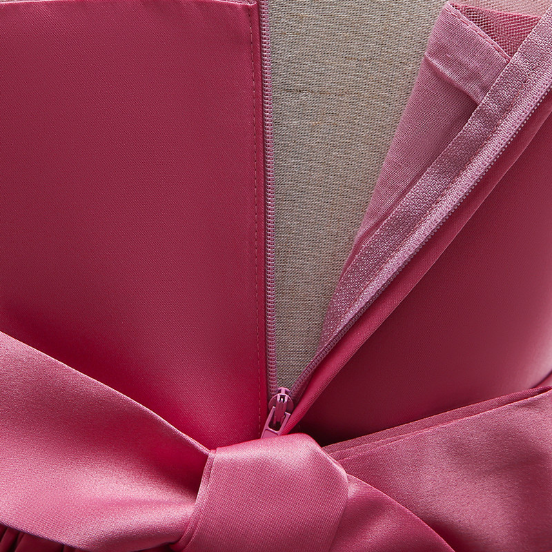 Elegant Rose Fower Girls Dress Kids Princess Birthday Applique Prom Designs Ball Gown Fashion Children Dresses For Girl Clothes (10)