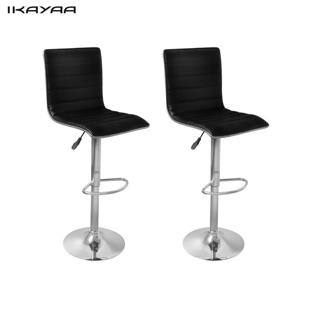 ikayaa unids tabby negro sillas de bar silla de metal para la barra es la
