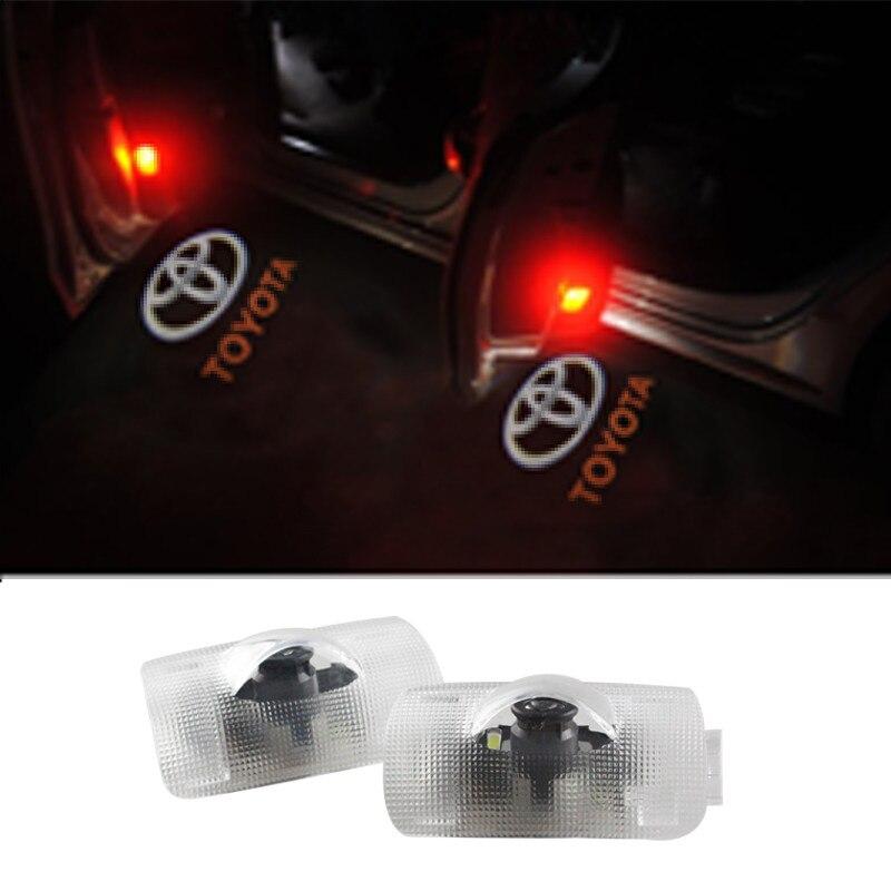 Projector Car Logo Shadow Door Welcome Step LED Light for Toyota Camry Land Cruiser Prado Reiz