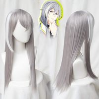 Japanese Halloween Cosplay Wig IDOLiSH7 Re:vale YUKI Gray Mixed Color Wig Synthetic Hair for Adult