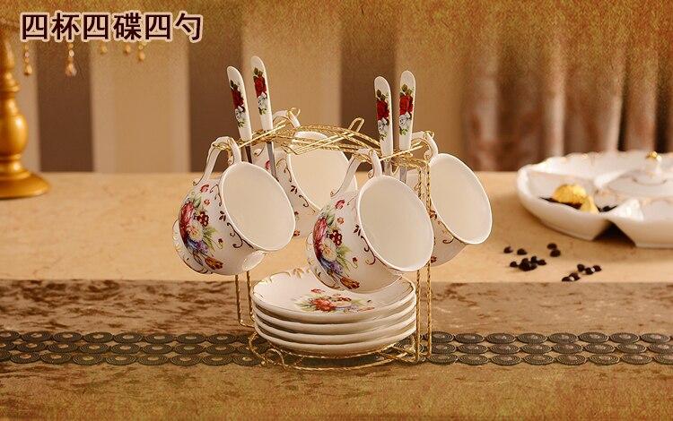 Европейская кофейная чашка набор чашка в британском стиле тарелка высококачественная керамика Западная черная чайная чашка половая чайна...