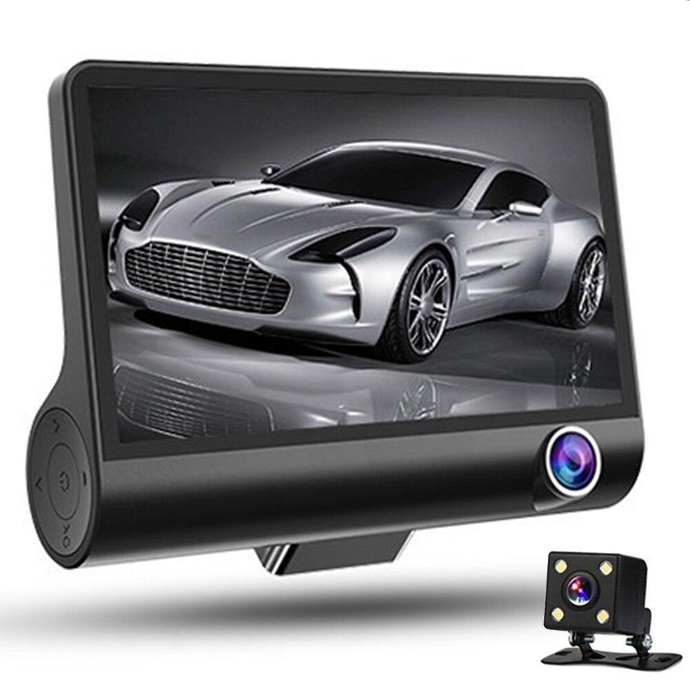 Driving-Recorder Parking-Monitoring Night-Vision Waterproof Rear Front Dash Car And Three-Lens