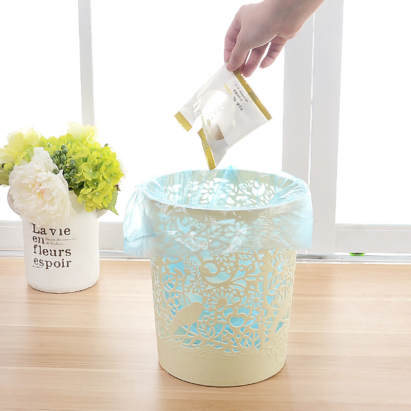 Fashion Flower Bird Plasic Trash Can Kitchen Cuisine Waste Bin Bathroom Poubelle De Cuisine Dustbin Office Paper Basket Lixeira
