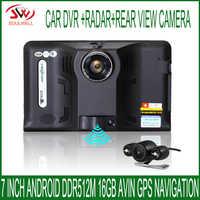 新 7 インチ GPS ナビゲーションアンドロイド GPS DVR ビデオカメラ 16 ギガバイト Allwinner A33 クアッドコア 4 Cpu レーダー検出器リア駐車