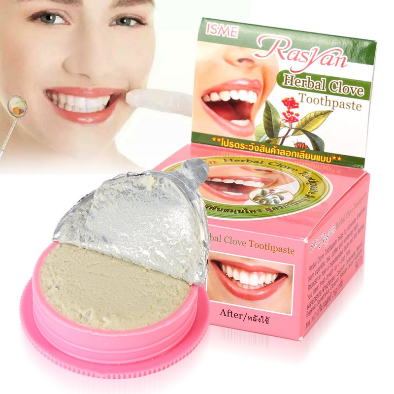 Dentifricio a base di erbe Dentifricio Herb Teeth Whitening Natural Incredibile Thai dentifricio Formula forte Teeth Whitening Tooth Powder