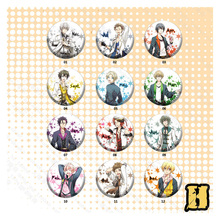 12pcs/set 58MM Anime Badge Six Gravity Procellarum SHIWASU KAKERU MUTSUKI HAJIME Badge Pin Brooch Hat Backpack Deco