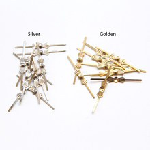 Best price 100pcs Gold bowtie pins connectors crystal prisms of chandelier lamp parts connectors accessories for glass pendants(China)