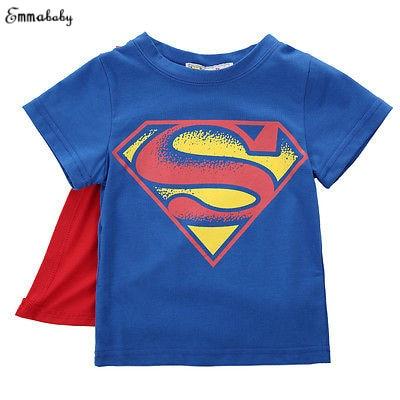 Emmababy Kids Cartoon T shirt Baby Boys Short Sleeve Summer Tee Tops 2-7T