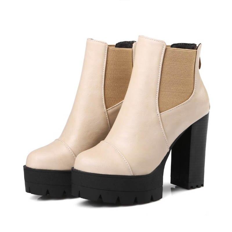 Épais Cheville Sexy Chaussures gris Botas De 3 Cm Femmes 11 Plate noir Femme Apricot Hauts Talons Bottes Neige forme Y0755433f Noir 5 Gilola Automne Xzwx6w