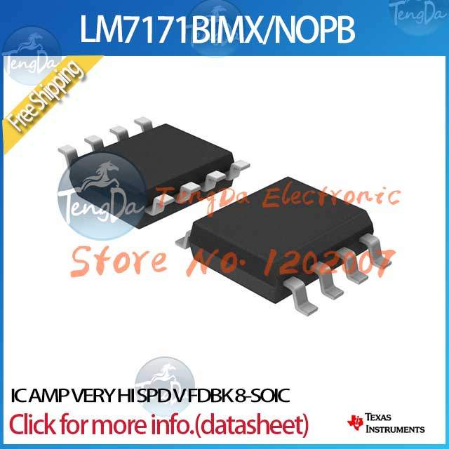 US $11 12 |Free Shipping 5PCS/lot LM7171BIMX/NOPB IC AMP VERY HI SPD V FDBK  8 SOIC LM7171BIMX 7171 LM7171 LM7171B-in Integrated Circuits from