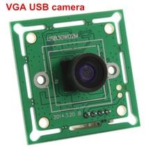ELP 300K פיקסלים VGA USB2.0 OmniVision OV7725 צבע CMOS חיישן 60fps USB מצלמה מודול עם רחב זווית 120 תואר m7 עדשה