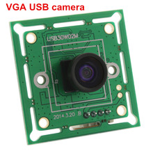 ELP 300K pixels VGA USB2.0 OmniVision OV7725 Color CMOS Sensor 60fps USB Camera Module with wide angle 120 degree M7 lens