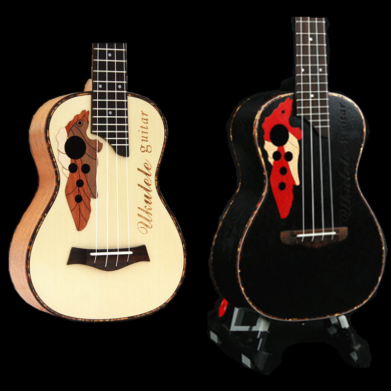 23 inch Concert Ukulele 4 strings Hawaiian Guitar Rosewood Fretboard Mahogany Body Ukelele wholesale OEM  2 colors for Available soprano concert tenor ukulele 21 23 26 inch hawaiian mini guitar 4 strings ukelele guitarra handcraft wood mahogany musical uke