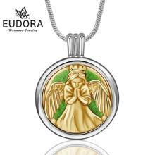 Эудора 20 мм диффузор эфирного масла ожерелье медная Дева Мария