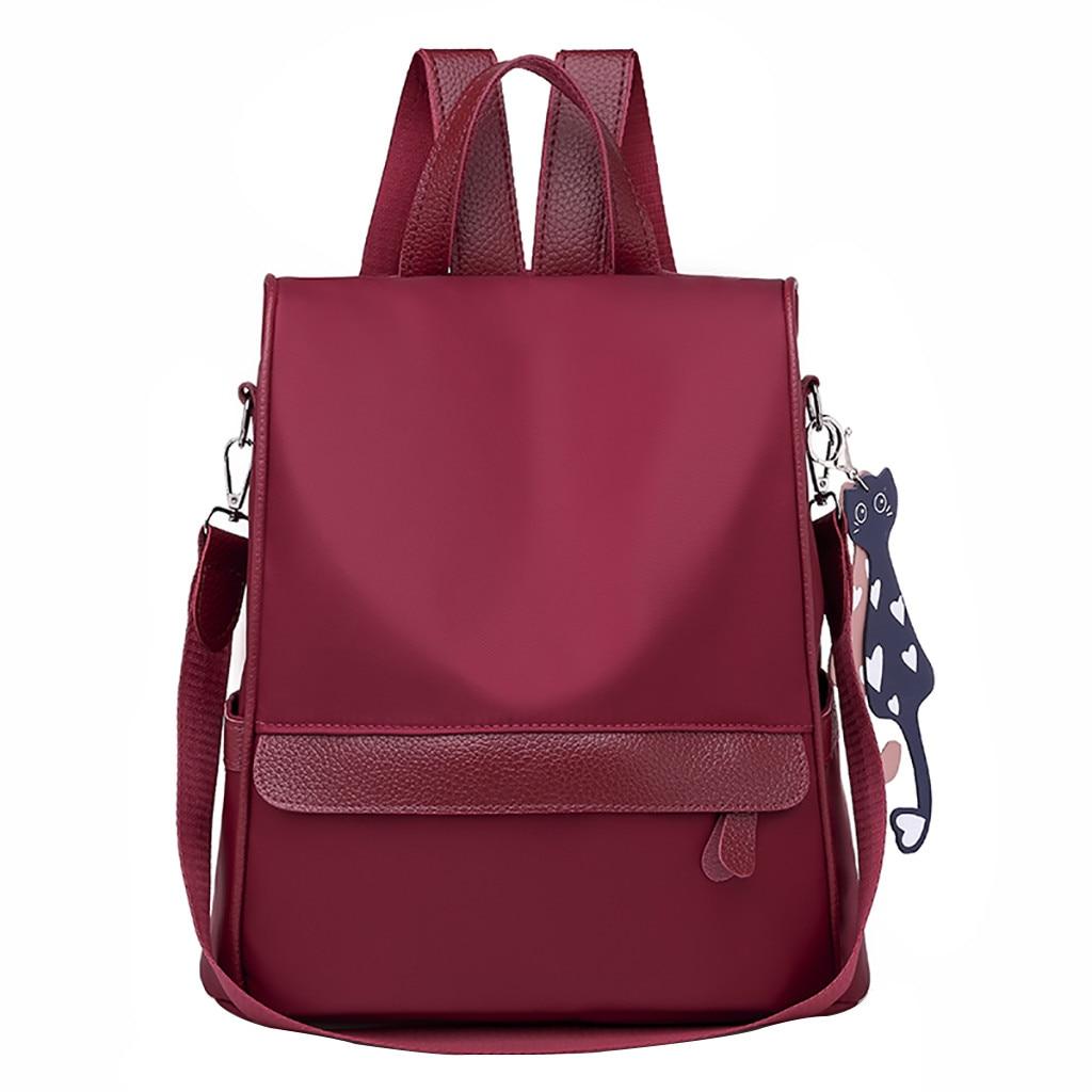 2019 New Fashion Women Oxford casual backpack wild travel student bag backpack Dropshipping Zaino da donna#30 semi formal summer dresses