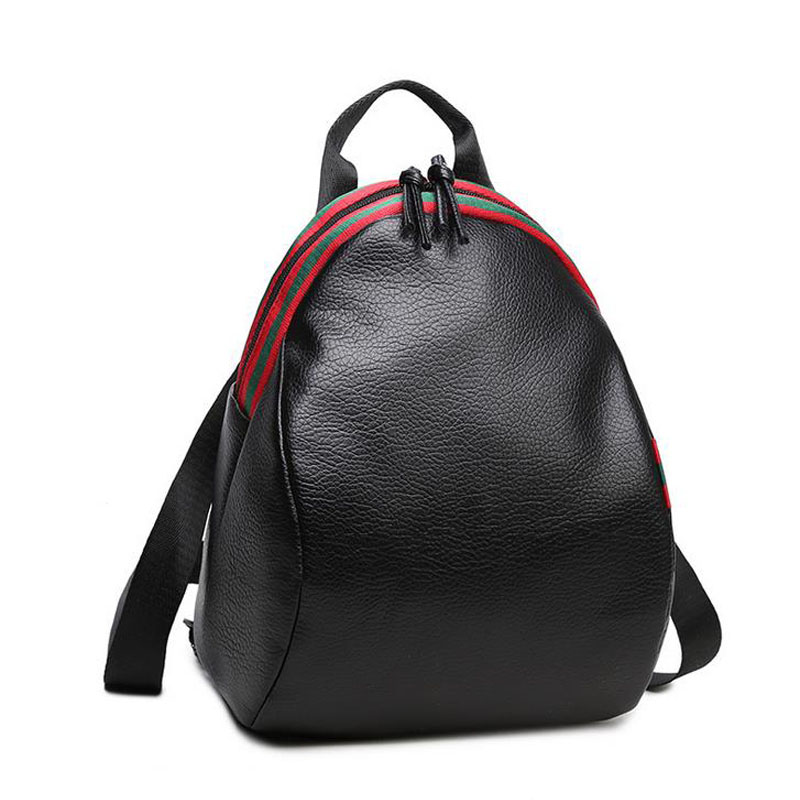 Fashion Designer PU Leather Women Backpack School Bags For Teenagers Girls Female Travel Back Pack