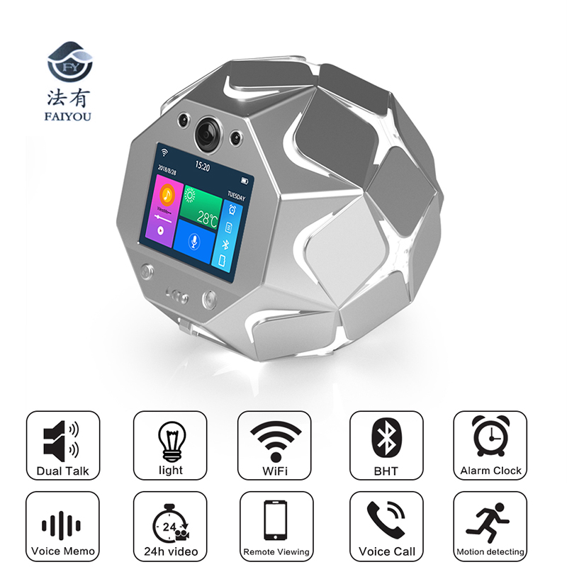 Dome Speed WIFI Camera 360 Degree Rotation Mini Speaker Camera Home Theater Subwoofer IP Remote Monitoring for SecurityDome Speed WIFI Camera 360 Degree Rotation Mini Speaker Camera Home Theater Subwoofer IP Remote Monitoring for Security