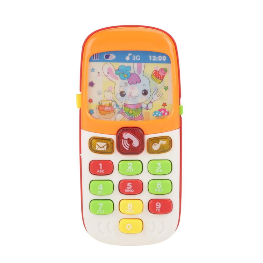 1PC Cute Electronic Phone Toy For Kids Baby Mobile Elephone Toys Educational Learning Music Machine Games Toys For Child