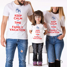 3ee71415 Short Sleeve Cotton T-Shirt Family Matching Outfits Mom And Daughter Father  Son Clothes Creative
