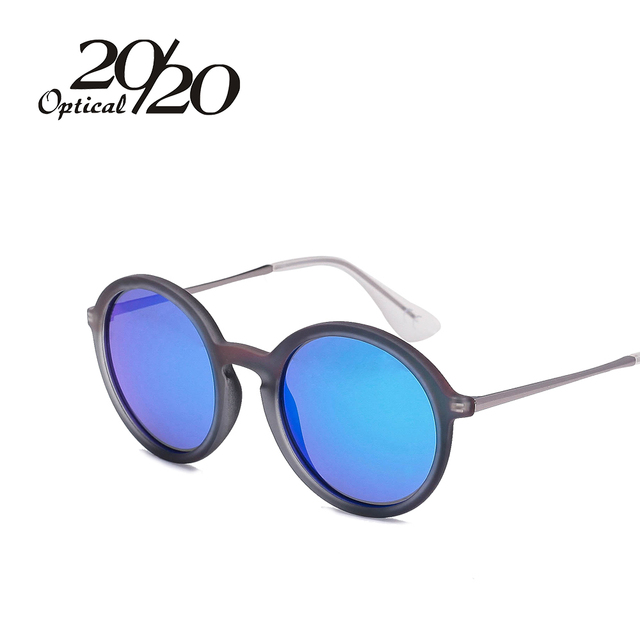 20/20 Brand Women Sunglasses Polarized SteamPunk Vintage Sunglass Men Mirror Circle Round Eyewear Oculos Gafas de so