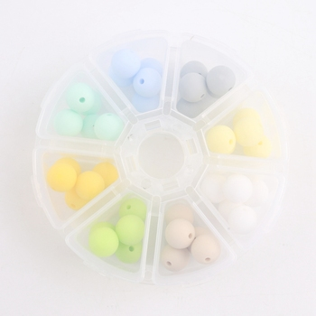 bite bites marble silicone teething beads bpa free silicone nursing necklace for mom necklace baby silicone teether baby teether Bite Bites Silicone Beads 12mm 40pc/set Can Choose Color DIY Teething Necklace Bracelet BPA Free Silicone Baby Teether