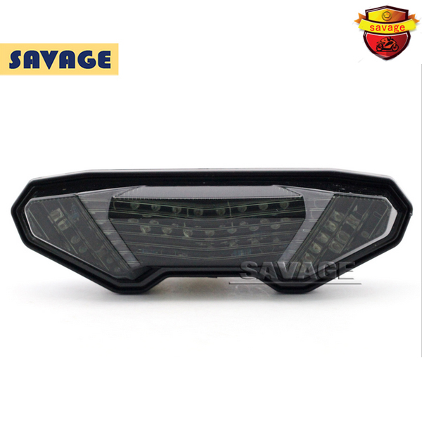 ФОТО For YAMAHA MT-09 FZ-09 MT09 FZ09 2014-2015 Motorcycle Accessories Integrated LED Tail Light Turn signal Blinker NEW Smoke