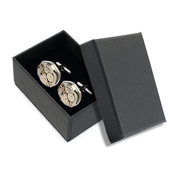 Silver Round High-end Brass Unique Vintage Cufflinks