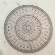 Ювелирные изделия гравировка драгоценный камень ручная роспись острый инструмент Полный Круглый инструмент 360 градусов транспортир 12 см в диаметре