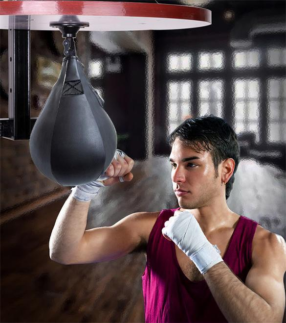 Double End Muay Thai Boxing Punching Bag Speed Ball Pear Punch Training Fitness <font><b>saco</b></font> <font><b>de</b></font> da <font><b>boxeo</b></font> With hanging image