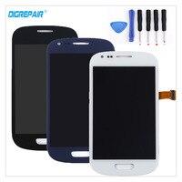 Schwarz/Weiß/Blau Für Samsung S3 Mini i8190 LCD Display Touchscreen Digitizer Glasscheibenanordnung Teile + reparatur Werkzeuge, freies schiff