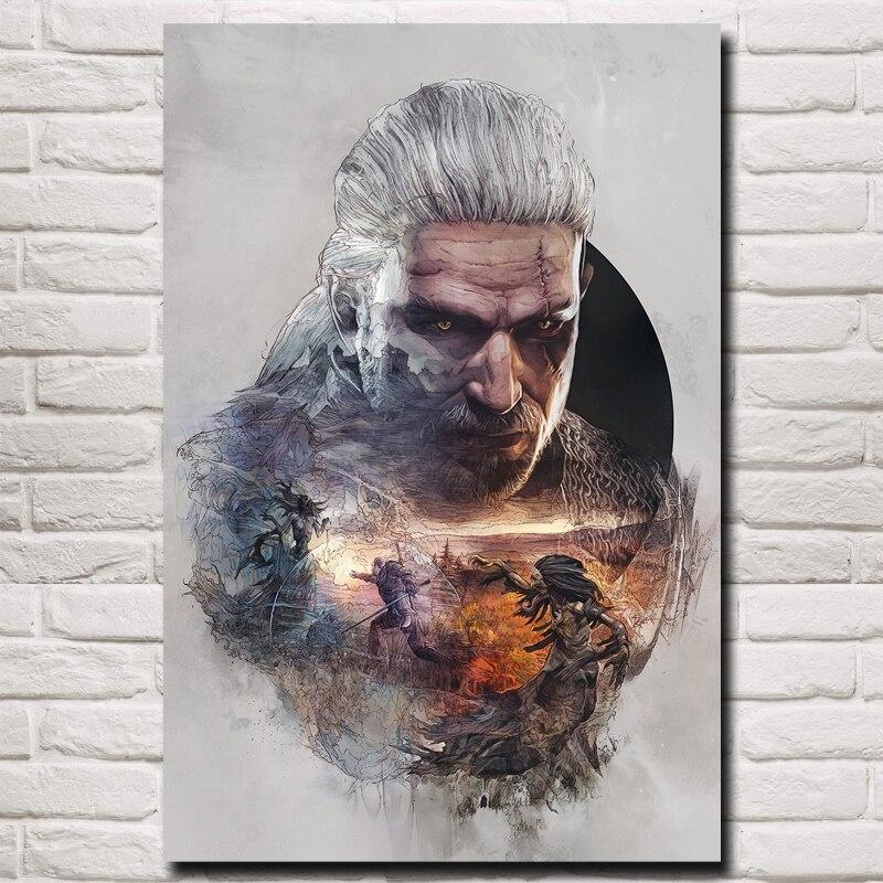 FOOCAME The Witcher 3: Wild Hunt A Rivia Geralt vadászata Art Art - Lakberendezés
