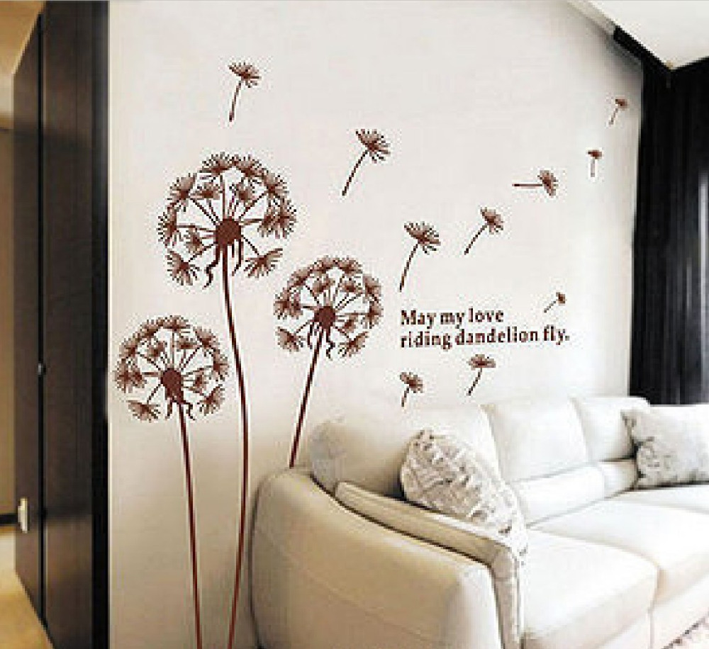 removable wall stickers nursery  custom wall stickers -  order  kids room removable vinyl dandelion pictures wall decalsstickers nursery quote vinyl sticker ay