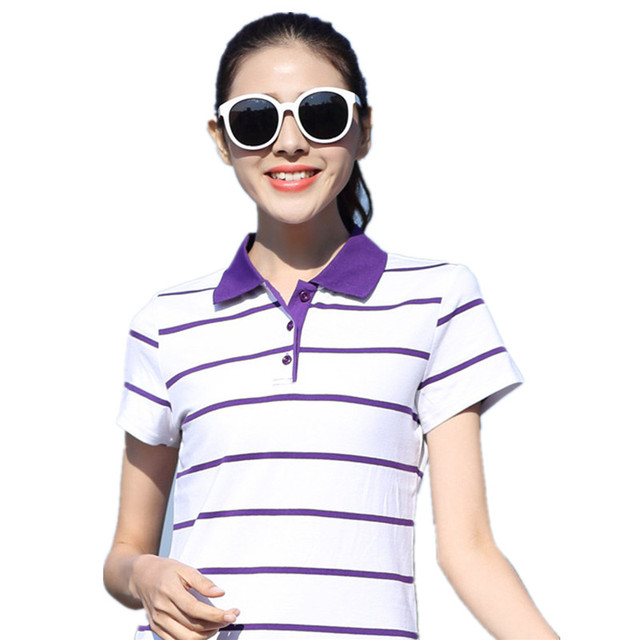 Polo Shirt Ladies 2017 New Design Women Casual Breathable  Cotton Students Girls Pure Polo Shirts Plus Size M-4XL 5XL YY671
